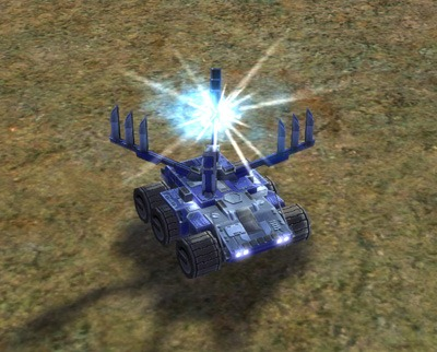 The Parashield Mobile Shield Generator, UEF Tech 2 unit in Supreme Commander.