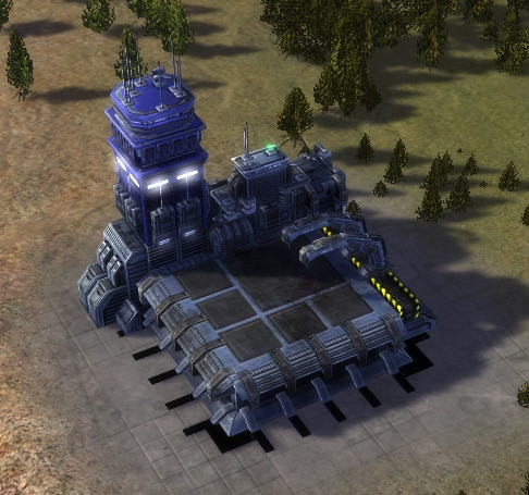 The T2 Air Factory, UEF Tech 2 economy building in Supreme Commander.