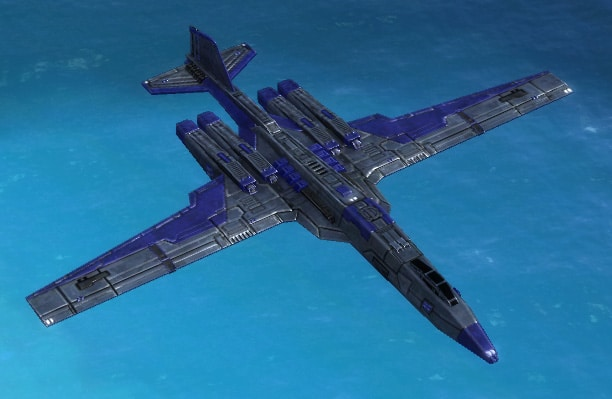 The Ambassador Strategic Bomber, UEF Tech 3 air unit in Supreme Commander.