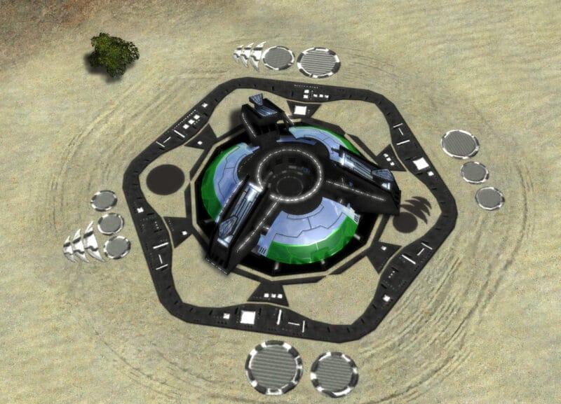 The Apocalypse Strategic Missile Launcher, Aeon Tech 3 Defensive Building in Supreme Commander.