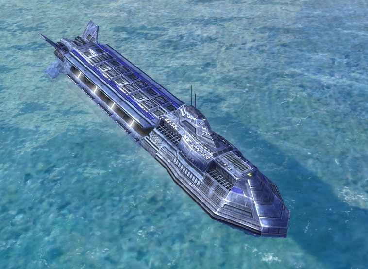 The Atlantis Submersible Aircraft Carrier, UEF Experimental Unit in Supreme Commander.