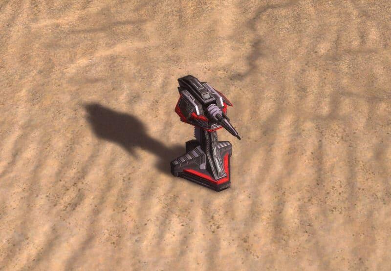 The Auto Gun Point Defense, Cybran Tech 1 Defensive Building in Supreme Commander.
