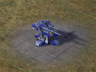 The Air Cleaner Anti-Air Flak Artillery, UEF Tech 2 defense building in Supreme Commander.