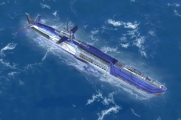 The Tigershark Attack Submarine, UEF Tech 1 naval unit in Supreme Commander.