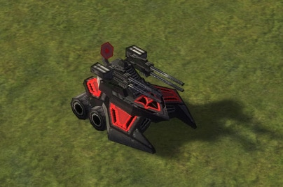 The Banger Mobile AA Flak Artillery, Cybran Tech 2 Land Unit in Supreme Commander.