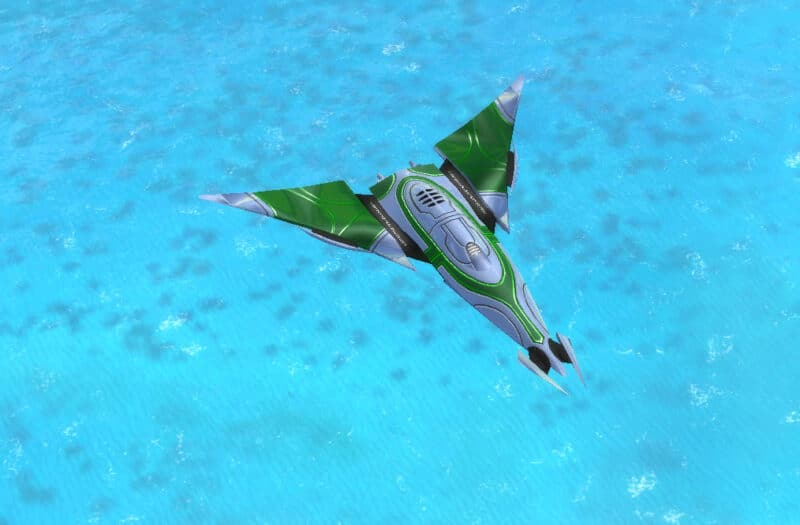 The Corona Air Superiority Fighter, Aeon Tech 3 Air Unit in Supreme Commander.