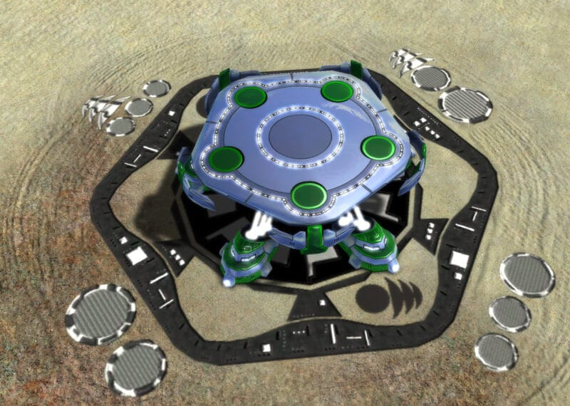 The Cradle Air Staging Facility, Aeon Tech 2 Defensive Building in Supreme Commander.