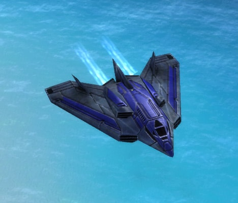 The Cyclone Interceptor, UEF Tech 1 air unit in Supreme Commander.