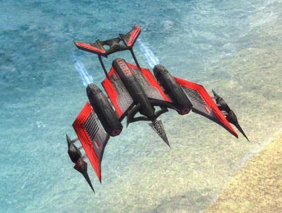 The Cormorant Torpedo Bomber, Cybran Tech 2 Air Unit in Supreme Commander.