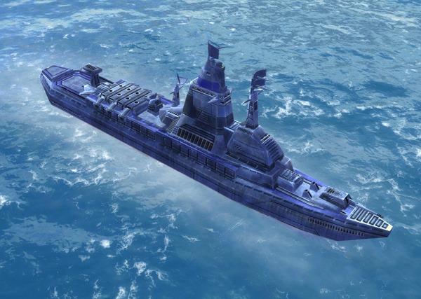 The Govenor Class Cruiser, UEF Tech 2 naval unit in Supreme Commander.