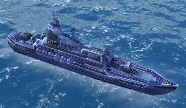 The Valiant Class Destroyer, UEF Tech 2 naval unit in Supreme Commander.