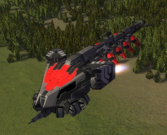 The Dragon Fly Air Transport, Cybran Tech 2 Air Unit in Supreme Commander.