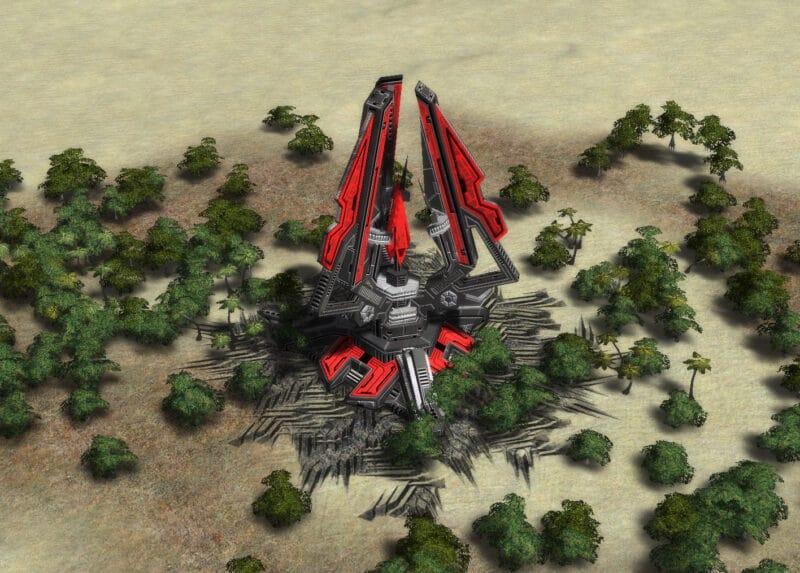 The ED-1 Shield Generator (Inactive), Cybran Tech 2 Defensive Building in Supreme Commander.