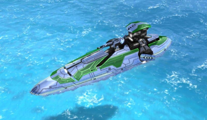 The Exodus Class Destroyer, Aeon Tech 2 Naval Unit in Supreme Commander.