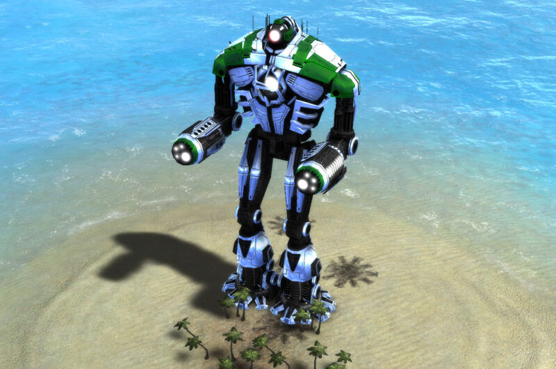 The Galactic Colossus Sacred Assault Bot, Aeon Experimental Unit in Supreme Commander.