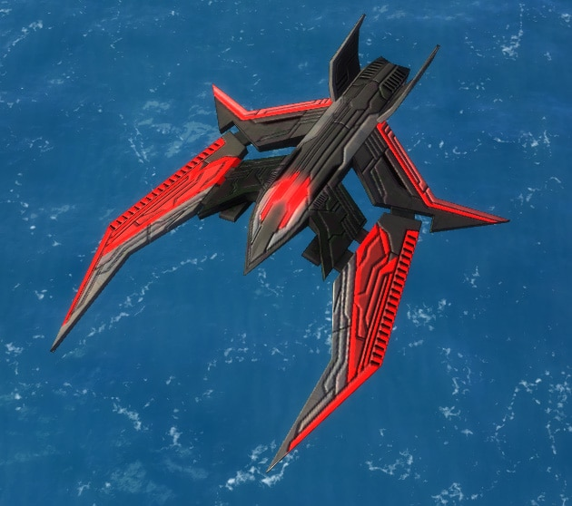 The Gemini Air Superiority Fighter, Cybran Tech 3 Air Unit in Supreme Commander.