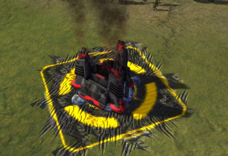 The HCPP-X1000 Hydrocarbon Power Plant, Cybran Tech 1 Economy Building in Supreme Commander.