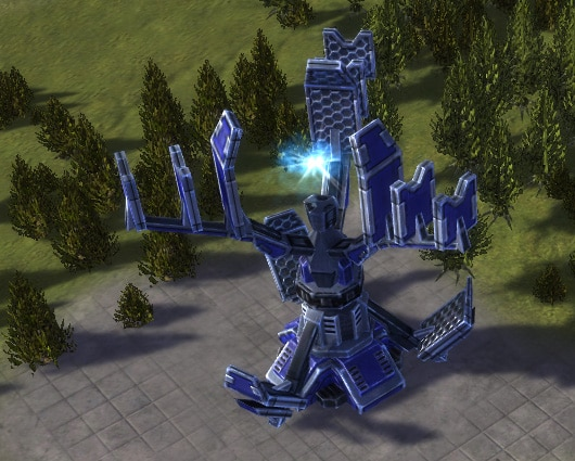 The HSD Pulse Heavy Shield Generator, UEF Tech 3 defense building in Supreme Commander.