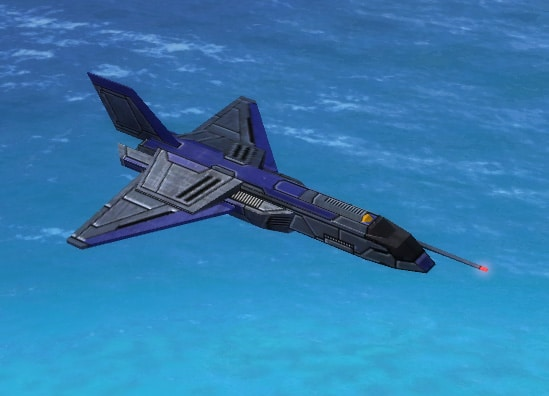The Hummingbird Air Scout, UEF Tech 1 air unit in Supreme Commander.