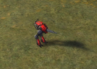The Hunter Light Assault Bot, Cybran Tech 1 Land Unit in Supreme Commander.