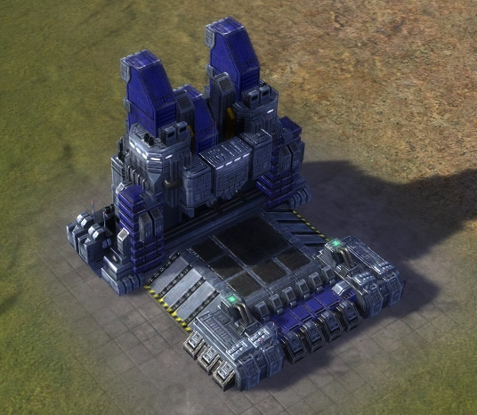 The T2 Land Factory, UEF Tech 2 economy building in Supreme Commander.