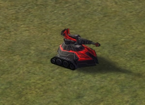 The Medusa Mobile Light Artillery, Cybran Tech 1 Land Unit in Supreme Commander.