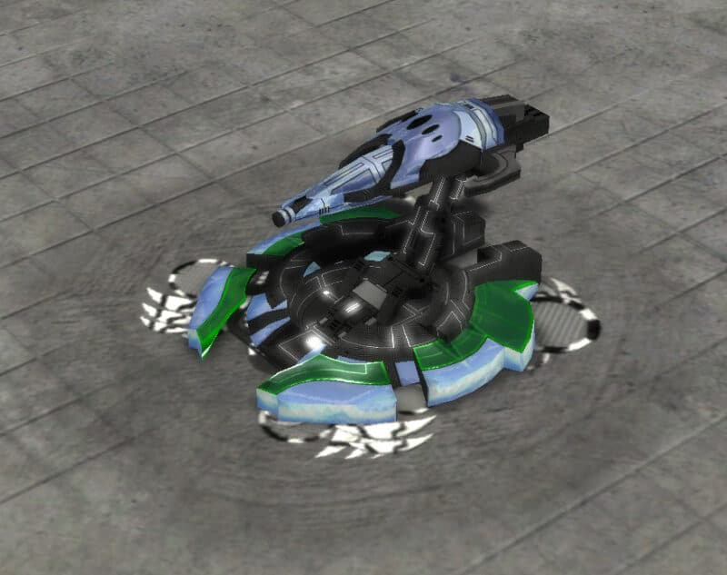 The Oblivion T2 Point Defense, Aeon Tech 2 Defensive Building in Supreme Commander.
