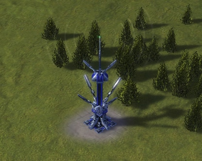 The SA3-Omni Sensor Array, UEF Tech 3 defense building in Supreme Commander.