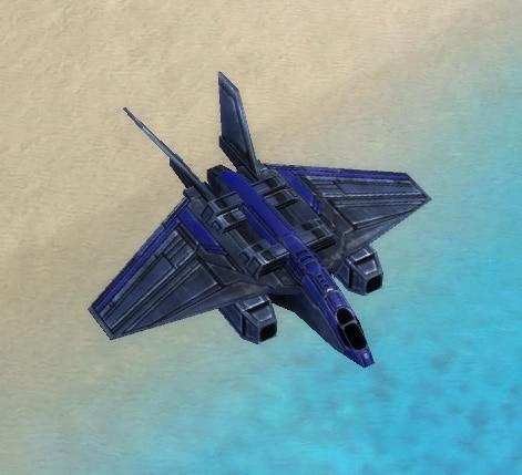 The Scorcher Attack Bomber, UEF Tech 1 air unit in Supreme Commander.