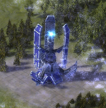 The SD-Pulse Shield Generator, UEF Tech 2 defense building in Supreme Commander.
