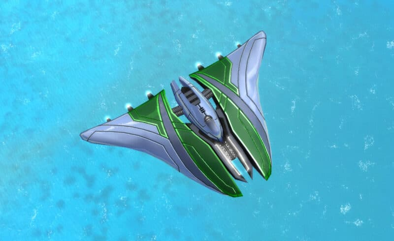 The Shocker Strategic Bomber, Aeon Tech 3 Air Unit in Supreme Commander.