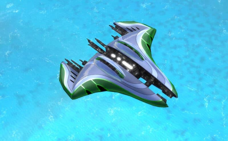 The Skimmer Torpedo Bomber, Aeon Tech 2 Air Unit in Supreme Commander.