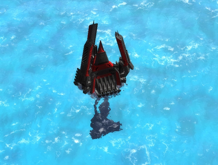 The T3 Sonar Platform, Cybran Tech 3 Defensive Building in Supreme Commander.