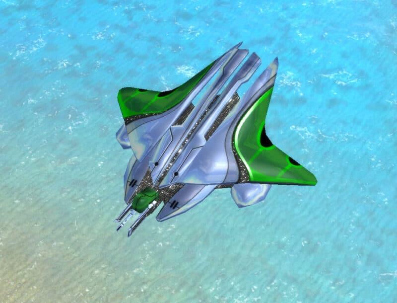 The Specter Gunship, Aeon Tech 2 Air Unit in Supreme Commander.