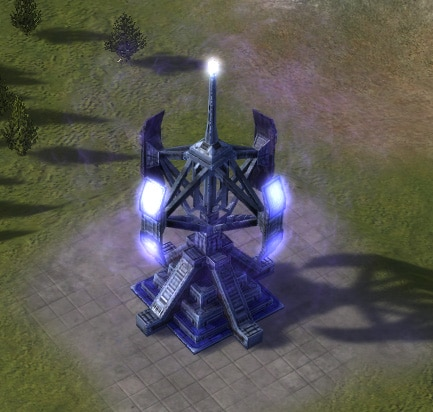 The Stealth Field Generator, UEF Tech 2 defense building in Supreme Commander.