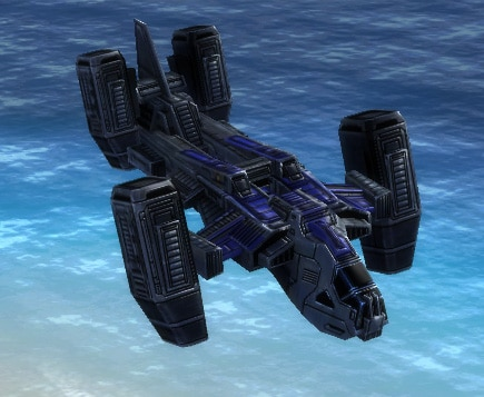 The Stinger Gunship, UEF Tech 2 air unit in Supreme Commander.