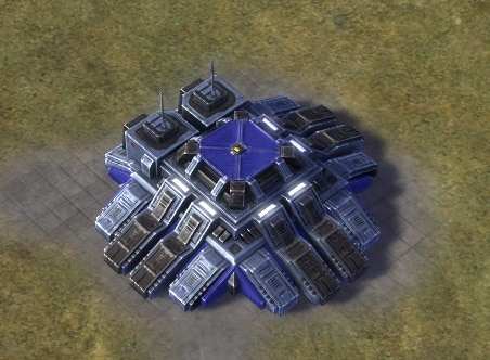 The Stonager Strategic Missile Launcher, UEF Tech 3 defense building in Supreme Commander.