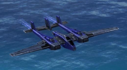The Stork Torpedo Bomber, UEF Tech 2 air unit in Supreme Commander.