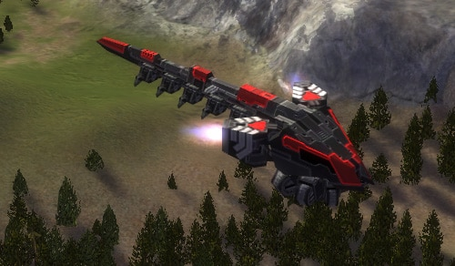 The Skyhook Light Air Transport, Cybran Tech 1 Air Unit in Supreme Commander.