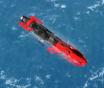 The Sliver Attack Submarine, Cybran Tech 1 Navy Unit in Supreme Commander.