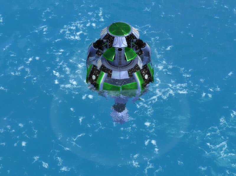 The T3 Sonar Platform, Aeon Tech 3 Defensive Building in Supreme Commander.