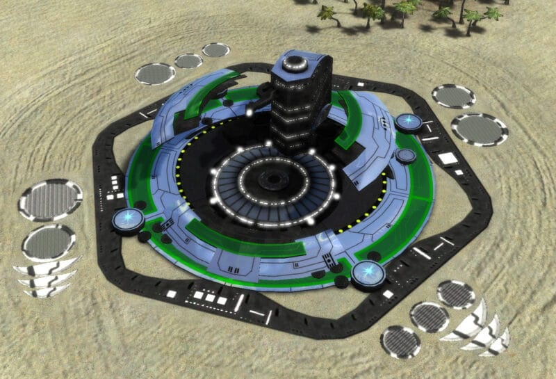 The T1 Land Factory, Aeon Tech 1 Economy Building in Supreme Commander.