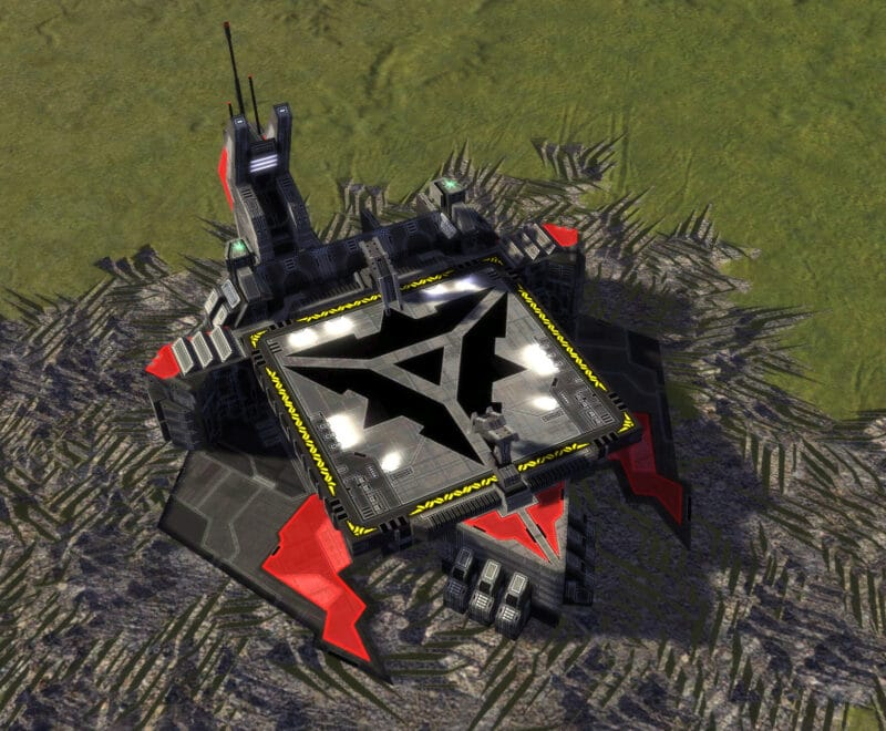 The T1 Air Factory, Cybran Tech 1 Economy Building in Supreme Commander.