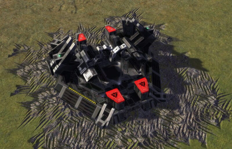 The T1 Land Factory, Cybran Tech 1 Economy Building in Supreme Commander.