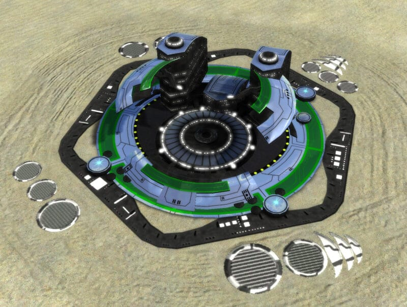 The T2 Land Factory, Aeon Tech 2 Economy Building in Supreme Commander.