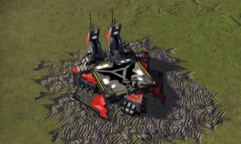 The T2 Air Factory, Cybran Tech 2 Economy Building in Supreme Commander.