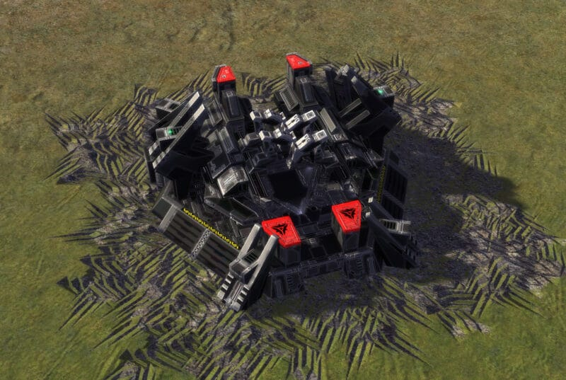 The T2 Land Factory, Cybran Tech 2 Economy Building in Supreme Commander.