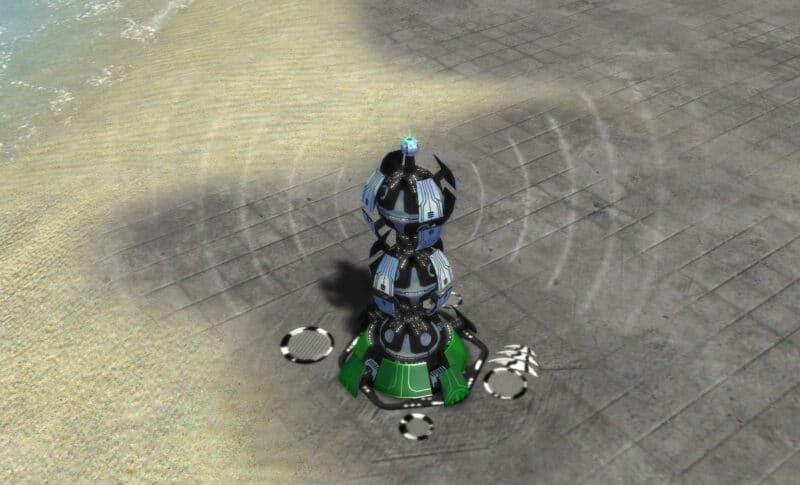 The T2 Radar System, Aeon Tech 2 Defensive Building in Supreme Commander.
