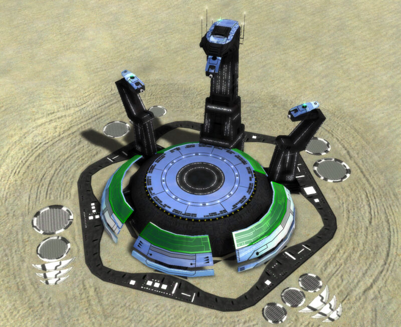 The T3 Air Factory, Aeon Tech 3 Economy Building in Supreme Commander.