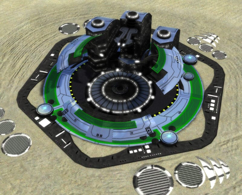 The T3 Land Factory, Aeon Tech 3 Economy Building in Supreme Commander.